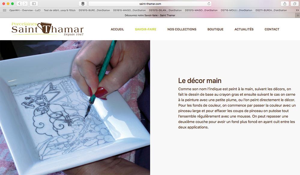 Découvrez le nouveau site de Saint-Thamar